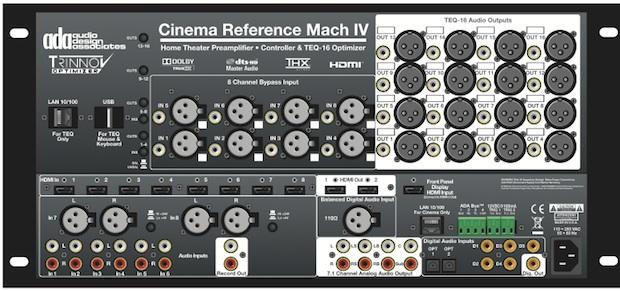ADA Cinema Reference Mach IV A/V Preamp/Processor - back