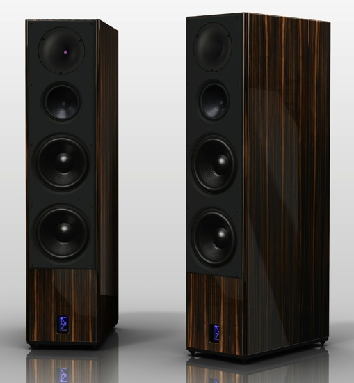 Lansche Audio No. 5.1 Loudspeakers - Macassar Ebony