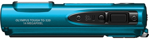 Olympus TG-320 Tough Digital Camera - Top, blue