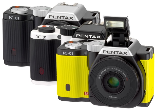 PENTAX K-01 Interchangeable Lens Digital Camera - colors