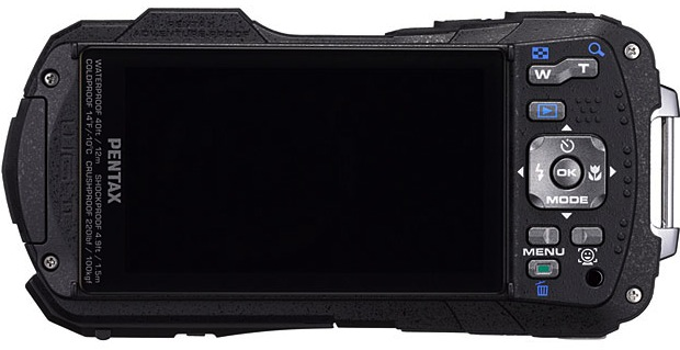 PENTAX Optio WG-2 Rugged Digital Camera - Back