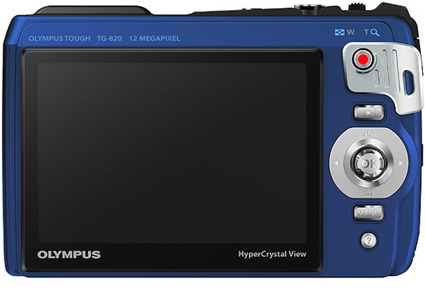 Olympus Tough TG-820 iHS Rugged Digital Camera - Back