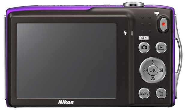 Nikon COOLPIX S3300 Digital Camera - Back