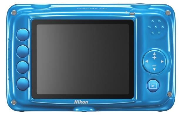 Nikon COOLPIX S30 Digital Camera - Back