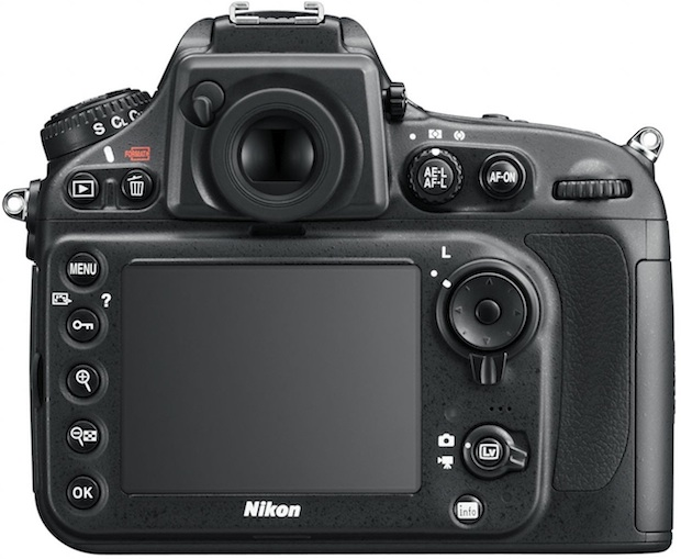 Nikon D800 HD-SLR Digital Camera - Back