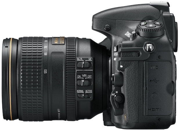 Nikon D800 HD-SLR Digital Camera - Left