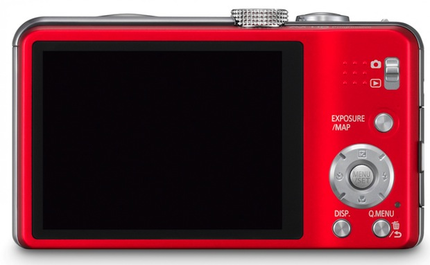 Panasonic LUMIX DMC-ZS20 and Digital Camera - back