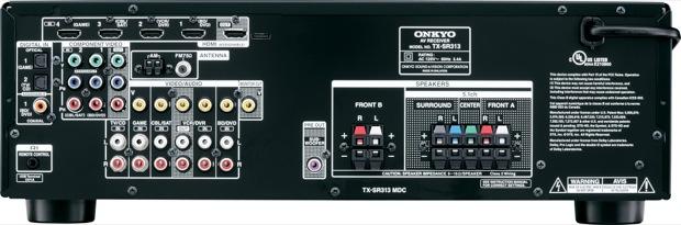 Onkyo TX-SR313 5.1-Channel Receiver - Back