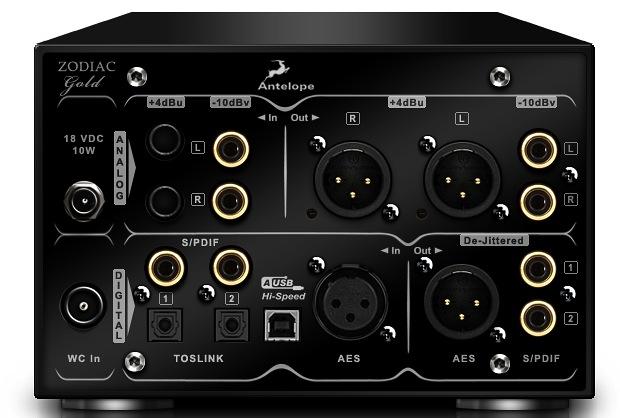 Antelope Audio Zodiac 384kHz DAC - Back