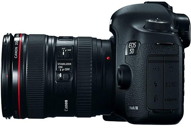 Canon EOS 5D Mark III Digital SLR Camera - Side