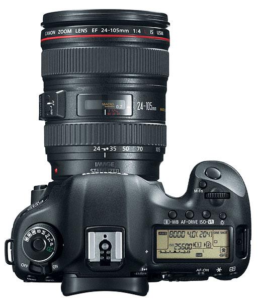 Canon EOS 5D Mark III Digital SLR Camera - Top