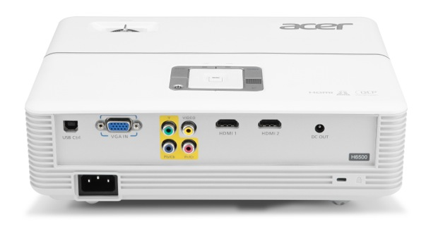 Acer H6500 DLP Projector - Back