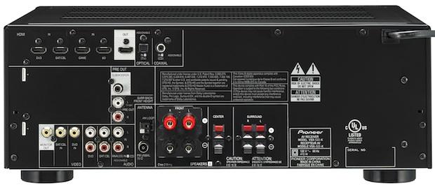 Pioneer VSX-522 A/V Receiver - Back