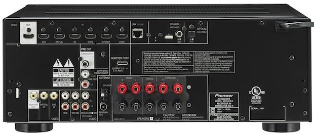 Pioneer VSX-822 A/V Receiver - Back