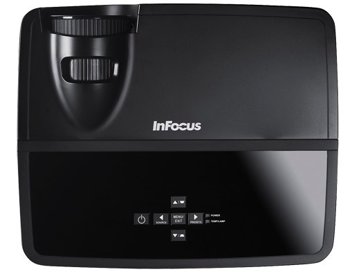 InFocus IN122 and IN124 DLP Projectors - Top