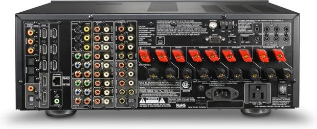 NAD T 777 A/V Receiver - back
