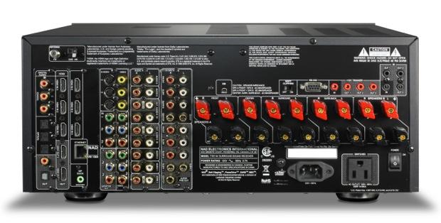 NAD T 787 A/V Receiver - back