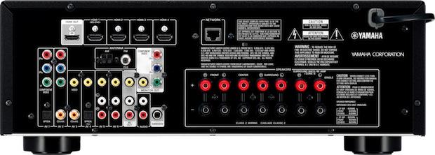 Yamaha RX-V573 A/V Receiver - Back