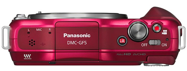 Panasonic DMC-GF5 Lumix Interchangeable Lens Digital Camera - Top