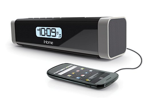 iHome iC16 Portable Alarm Clock Stereo Speaker with USB Charging
