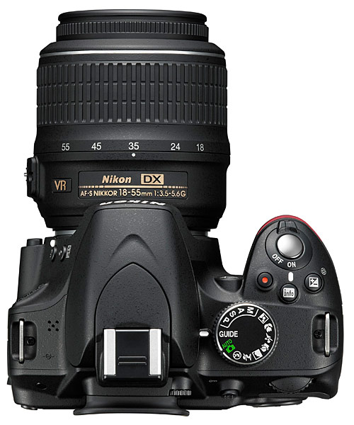 Nikon D3200 Digital SLR Camera - top