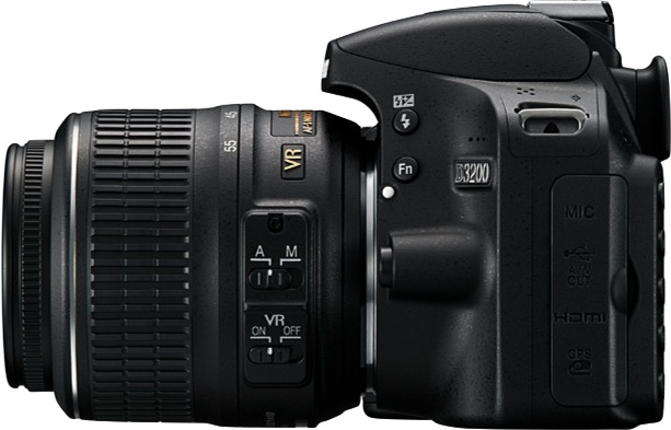 Nikon D3200 Digital SLR Camera - side left
