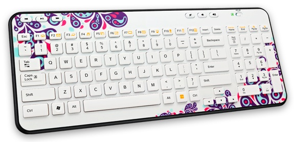 Logitech Global Graffiti Collection Wireless K360 Keyboard - Paisley