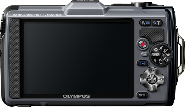Olympus TG-1 iHS Rugged Digital Camera - Back