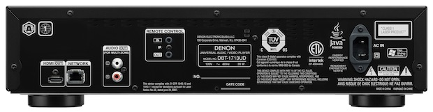 Denon DBT-1713UD Universal Blu-ray Player - Back