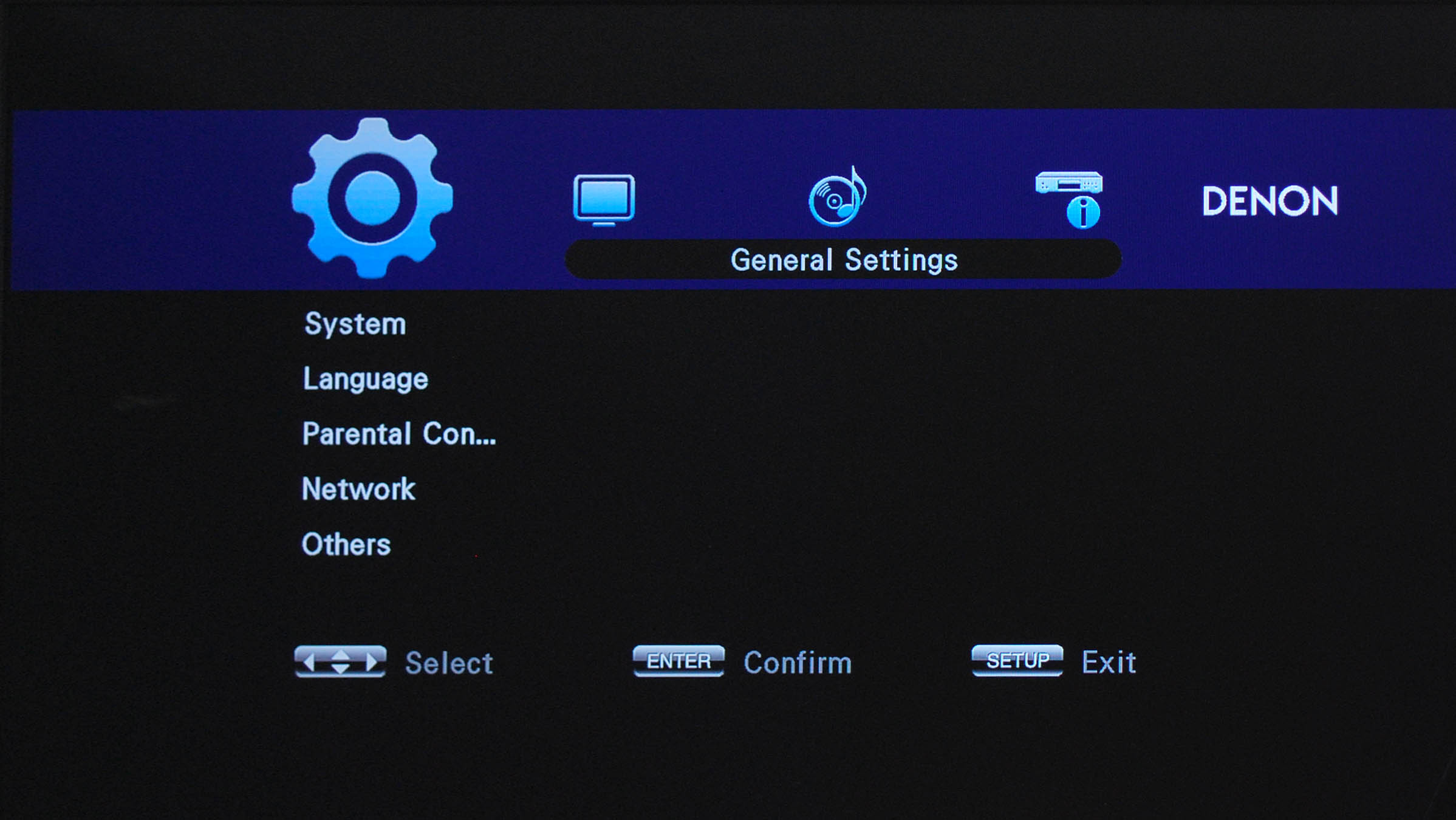 Denon DBT-1713UD GUI Screen 1