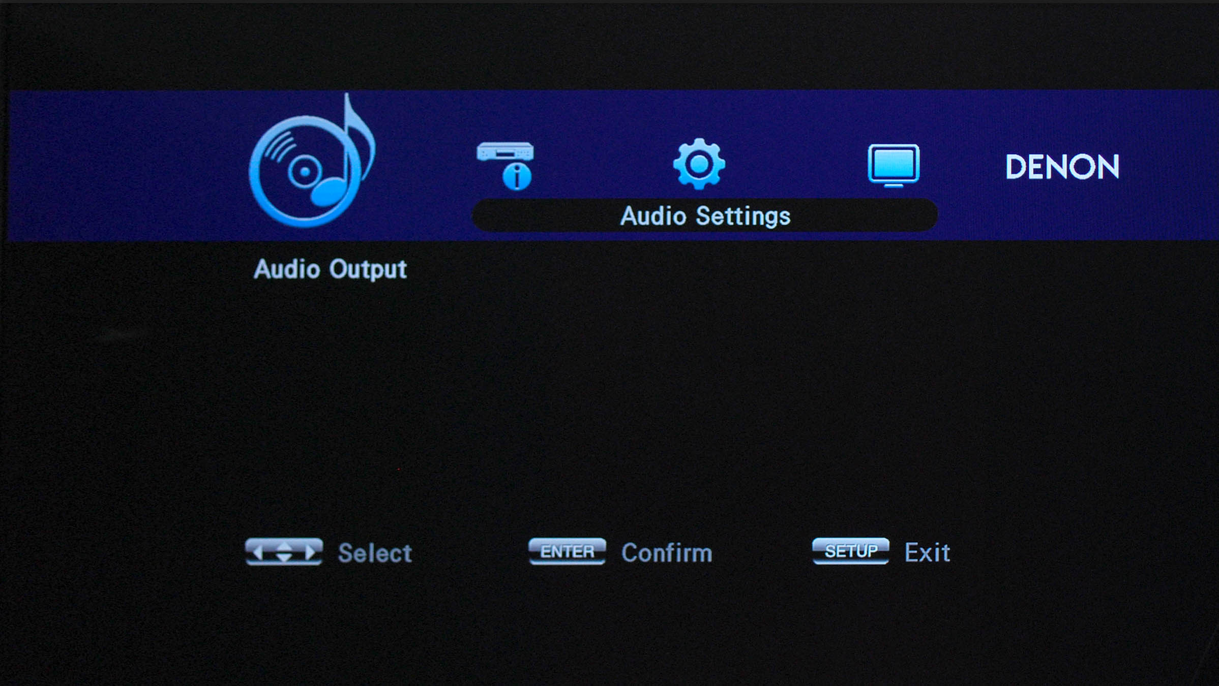 Denon DBT-1713UD GUI Screen 3
