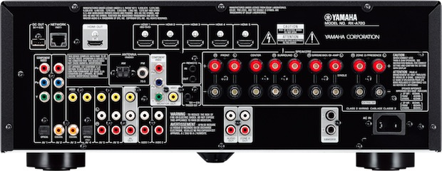 Yamaha RX-A720 AVENTAGE A/V Receiver - Back