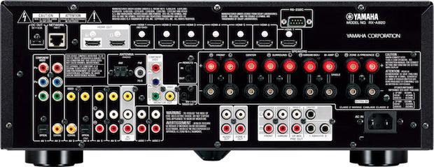 Yamaha RX-A820 AVENTAGE A/V Receiver - Back