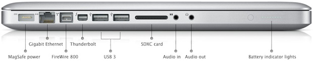 Apple MacBook Pro 15-inch - Ports