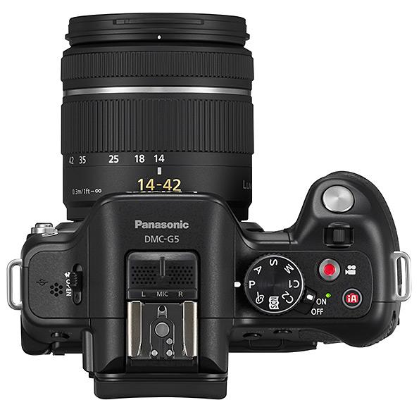 Panasonic DMC-G5 Lumix Micro Four Thirds Digital Camera - Top