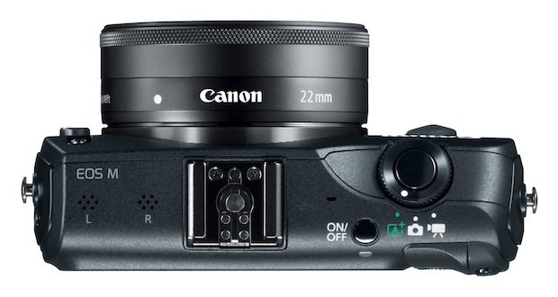 Canon EOS M Interchangeable Lens Digital Camera - Top