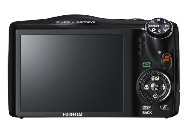 FujiFilm FinePix F800EXR Wi-Fi Digital Camera - Back