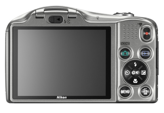 Nikon COOLPIX L610 Digital Camera - Back Silver