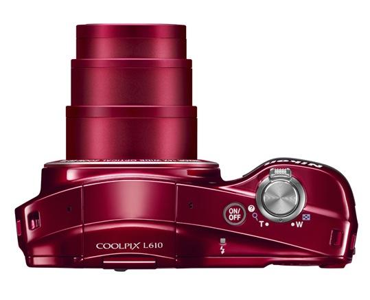 Nikon COOLPIX L610 Digital Camera - Top Red