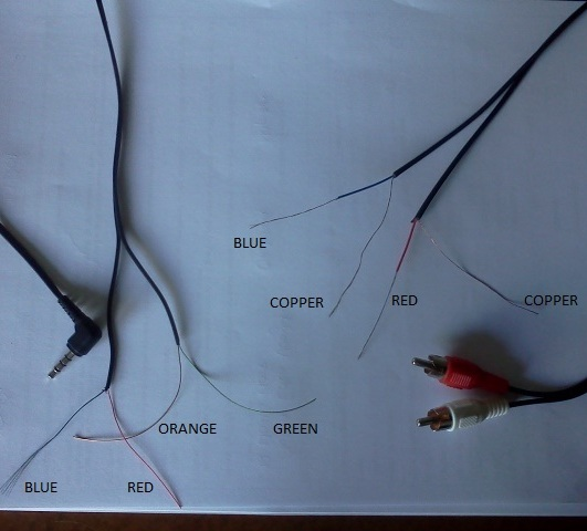 wiring a pair of sony earplugs cable to new 3 5mm ecoustics