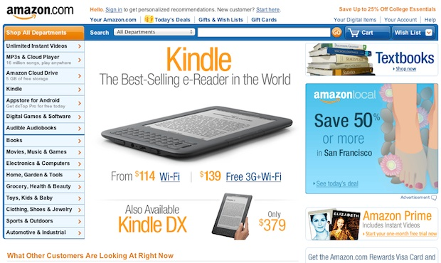 Amazon.com Old Homepage