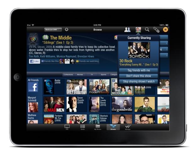 TiVo iPad app - Likes