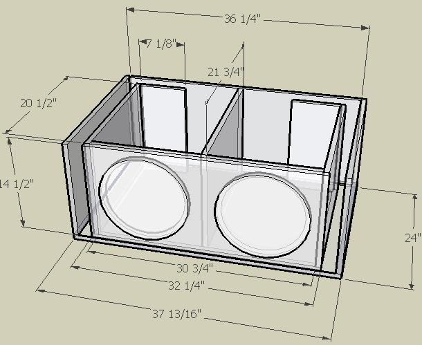 2 12 inch sub box plans 1