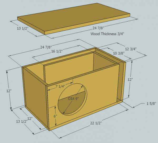 Enclosure design for Rockford Fosgate P3D210 - ecoustics.com