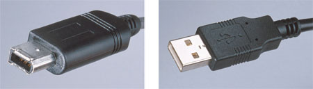 I.LINK and USB connectors