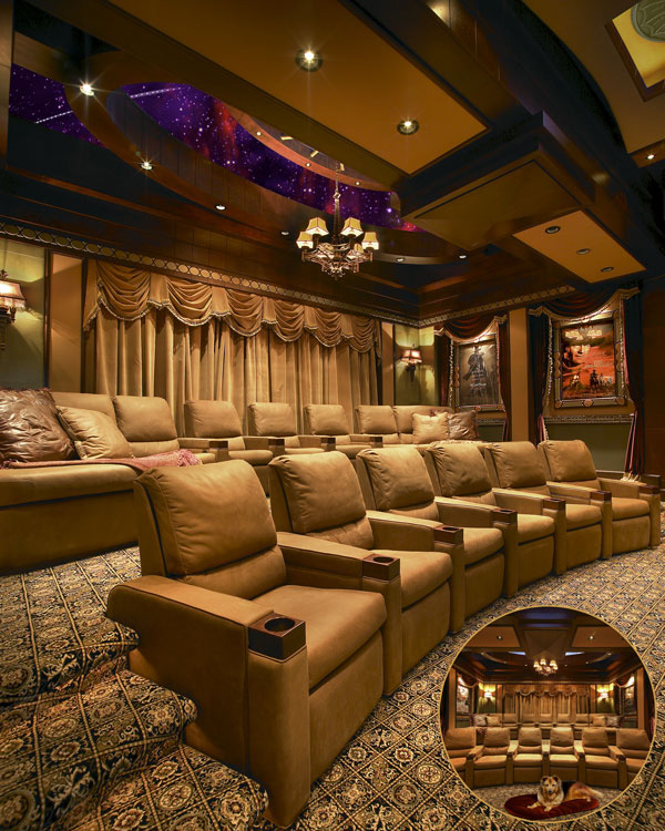 custom home theater installation cowboy chic
