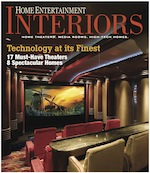 Home Entertainment Interiors Magazine Cover
