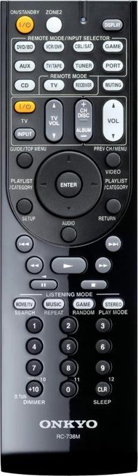 Onkyo TX-SR607 Remote Control
