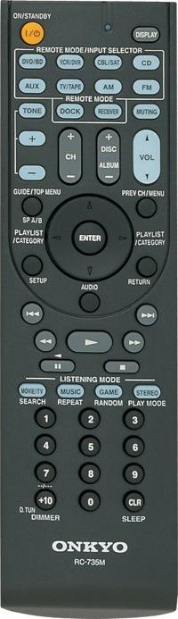 Onkyo TX-SR307 Remote Control