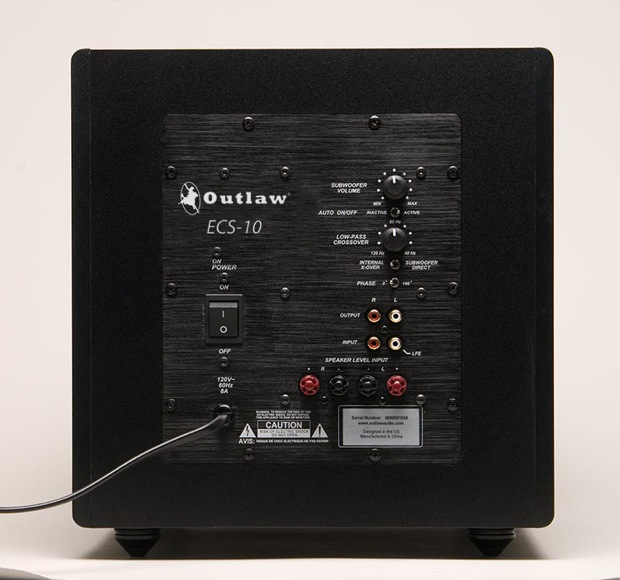 Outlaw Audio ECS-10 Subwoofer - Back